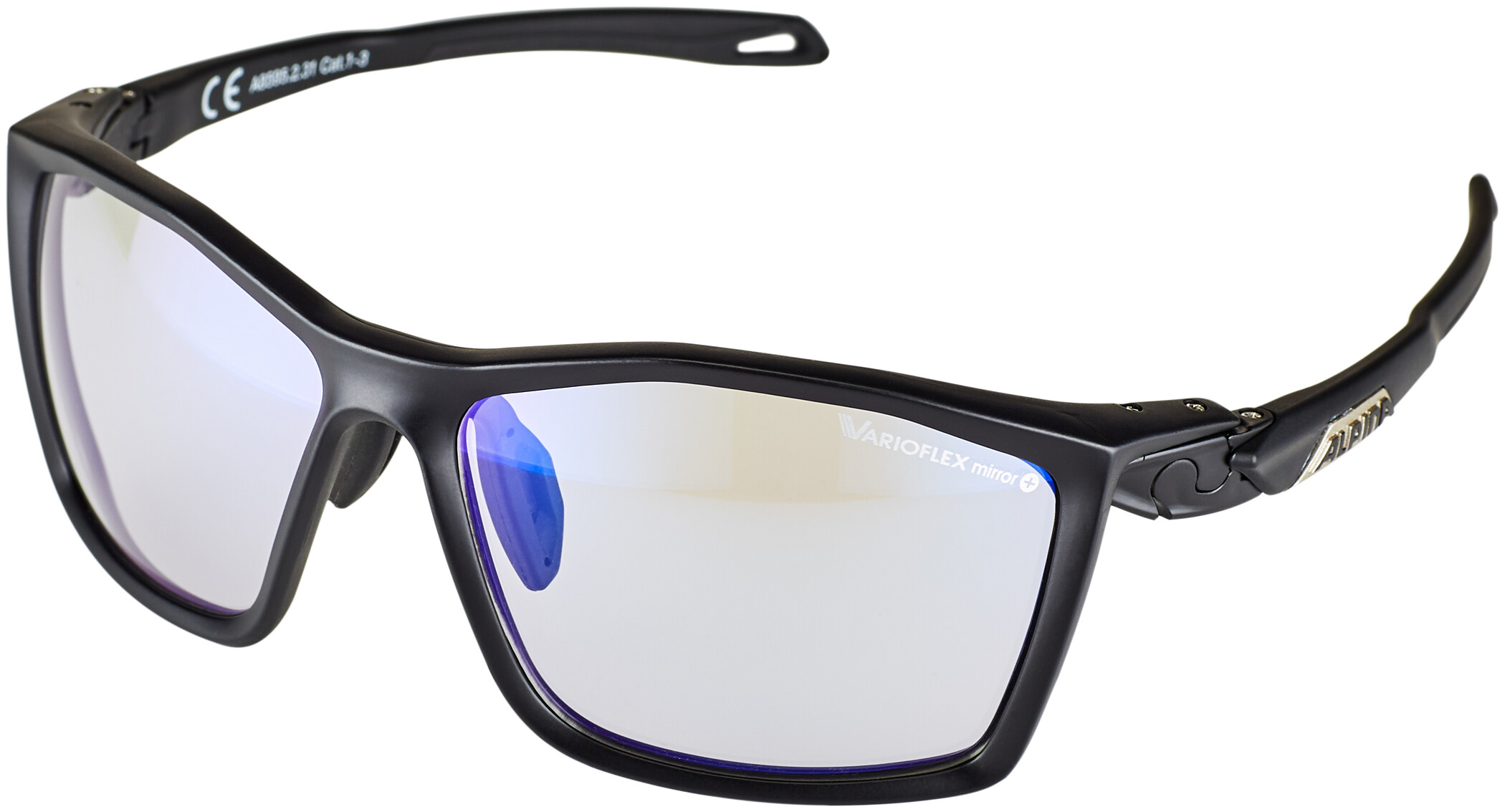 Alpina Twist Five VLM+ Cykelbriller, black matt (2019) | Glasses