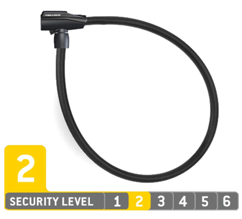 Trelock KS 260/85 Cykellås, black (2019) | Combo Lock