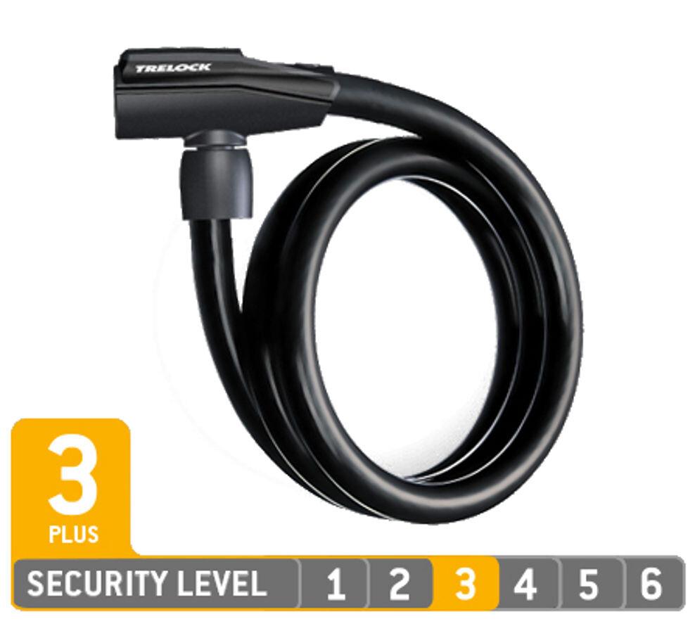 Trelock KS 360/85 Cykellås, black (2019) | Combo Lock