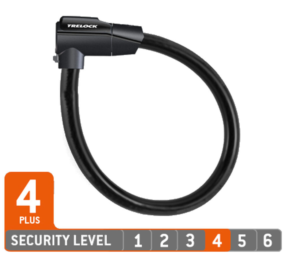 Trelock KS 460/85 Cykellås, black (2019) | Combo Lock
