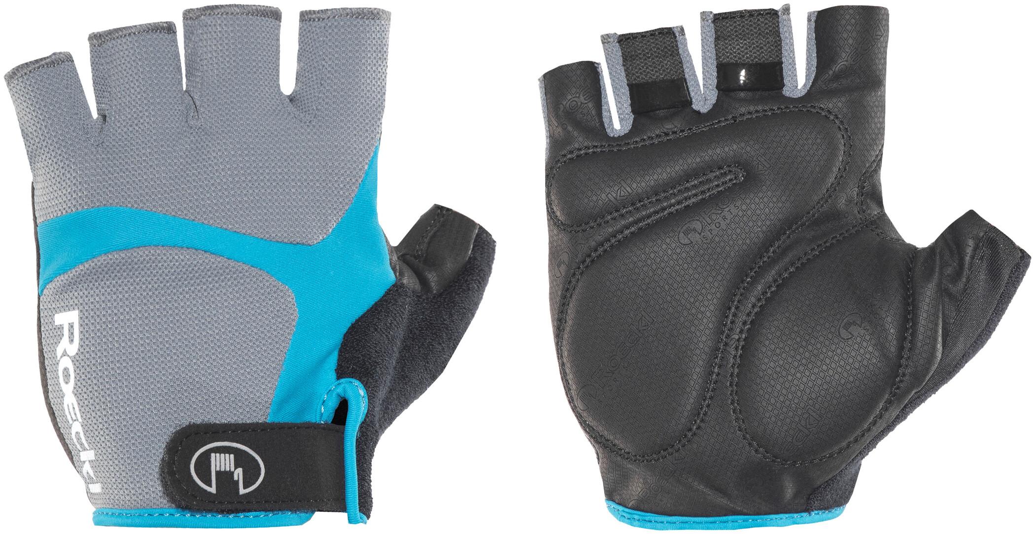 Roeckl Badi Cykelhandsker, grey/hawaii blue | Gloves