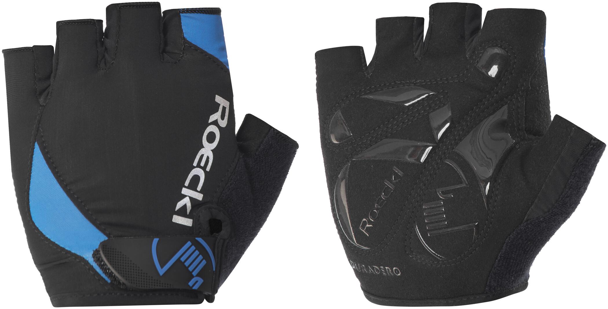 Roeckl Baku Cykelhandsker, black/blue (2019) | Gloves
