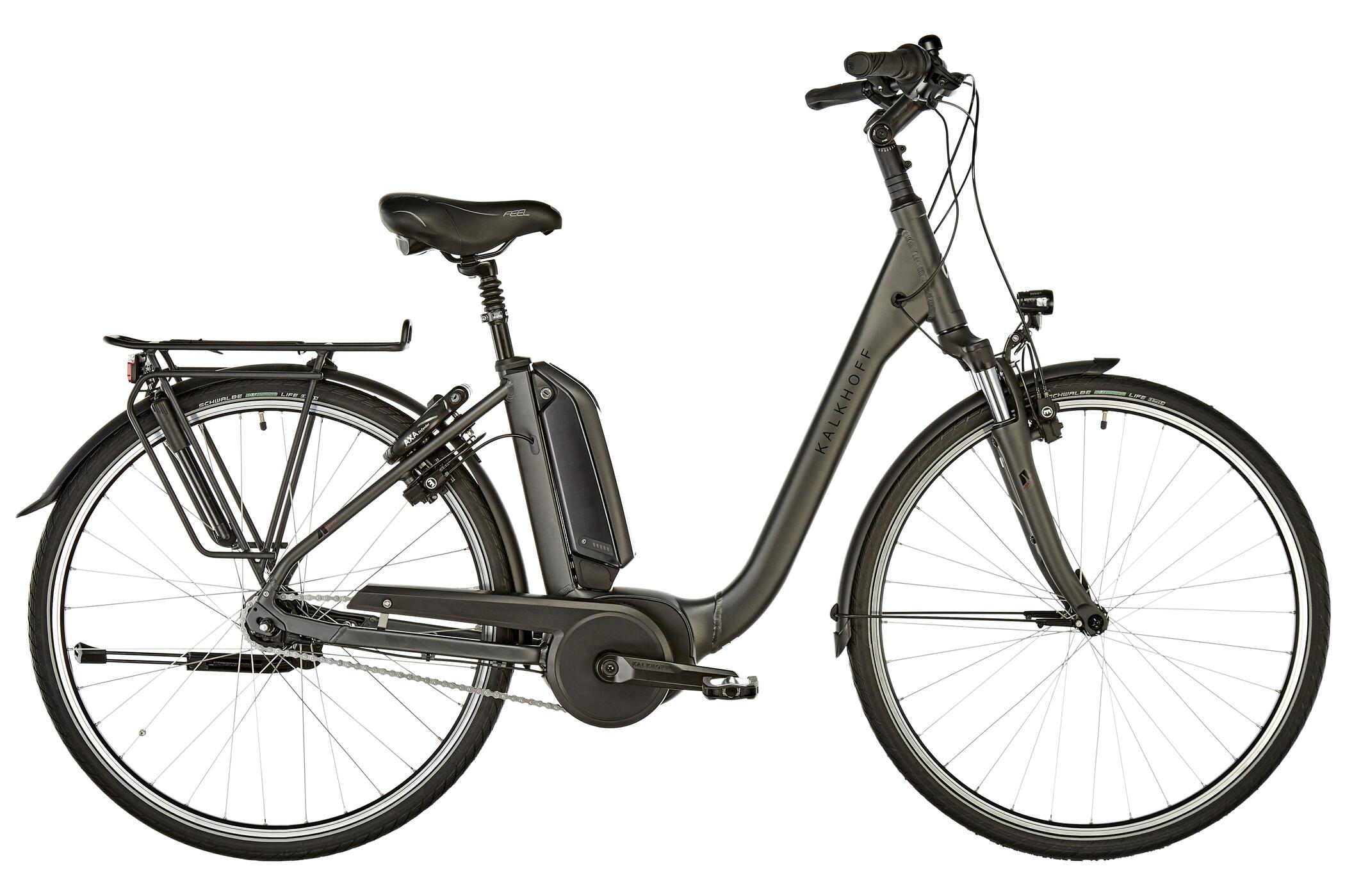 Kalkhoff Agattu B7R Move Comfort E-citybike 400Wh sort (2019) | City