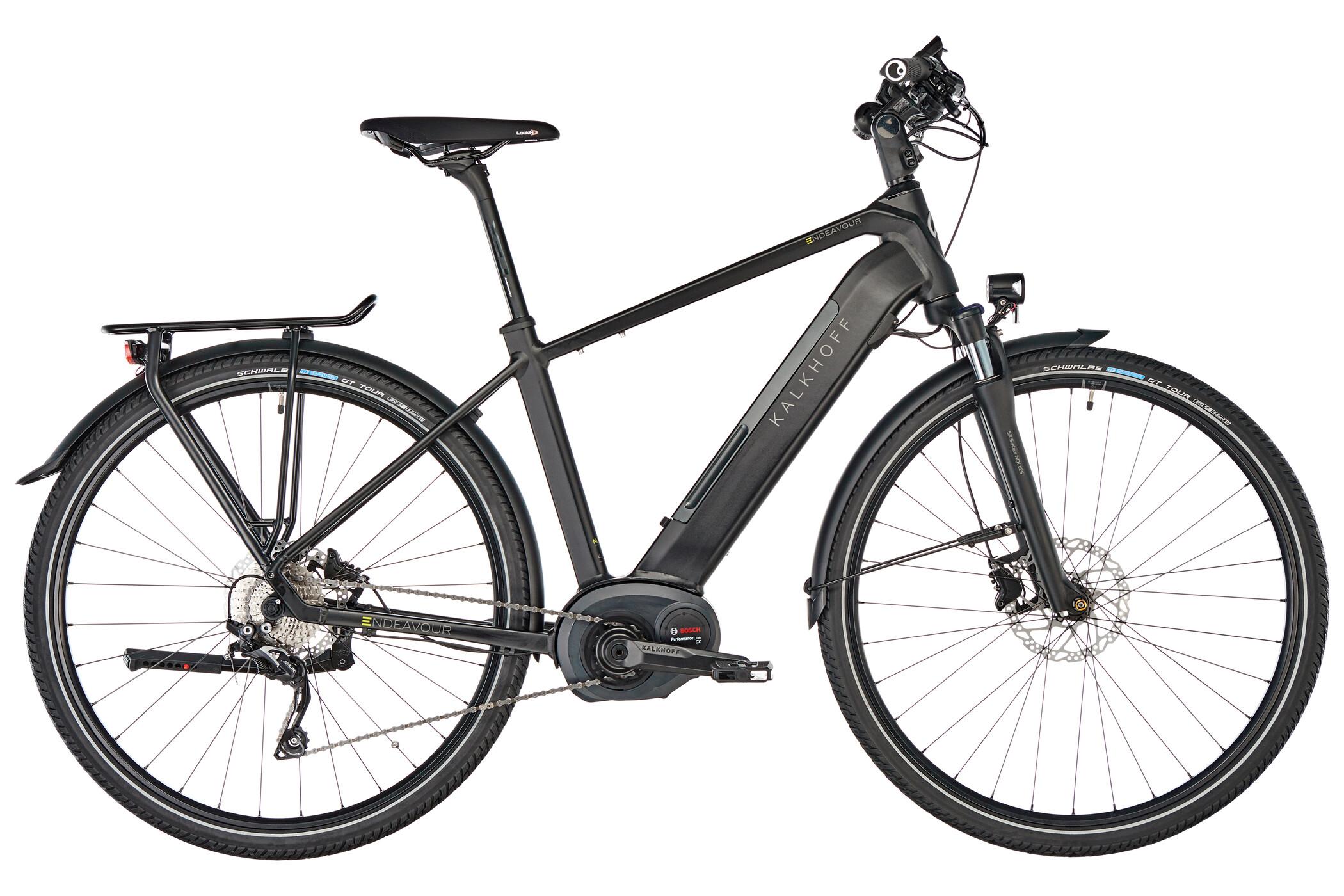 "Kalkhoff Endeavour Advance B10 E-trekkingcykel 28"" 500Wh sort (2019) | City-cykler"