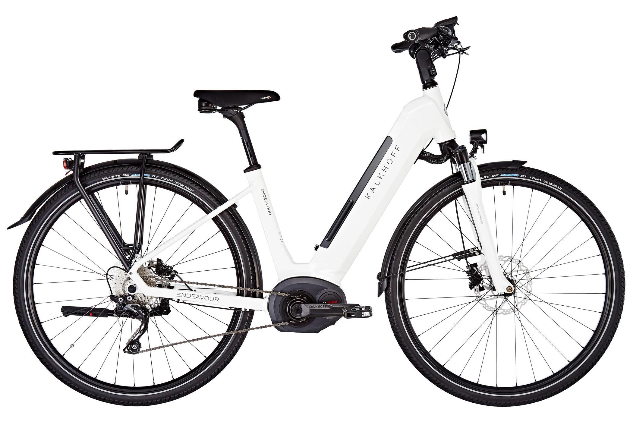 "Kalkhoff Endeavour Advance B10 E-trekkingcykel Wave 28"" 500Wh hvid (2019) | City-cykler"
