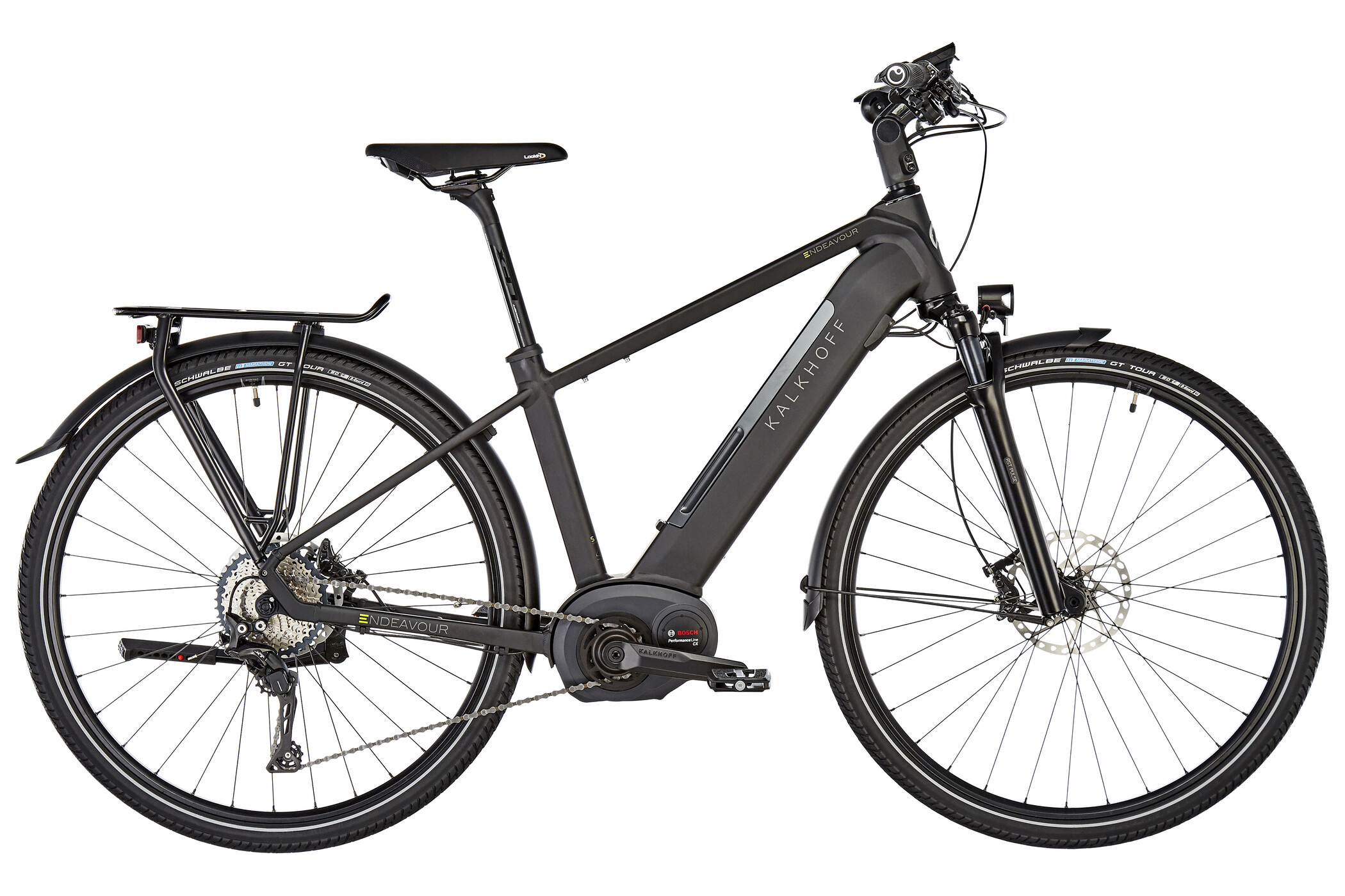 "Kalkhoff Endeavour Excite B11 E-trekkingcykel 28"" 500Wh sort (2019) | City-cykler"