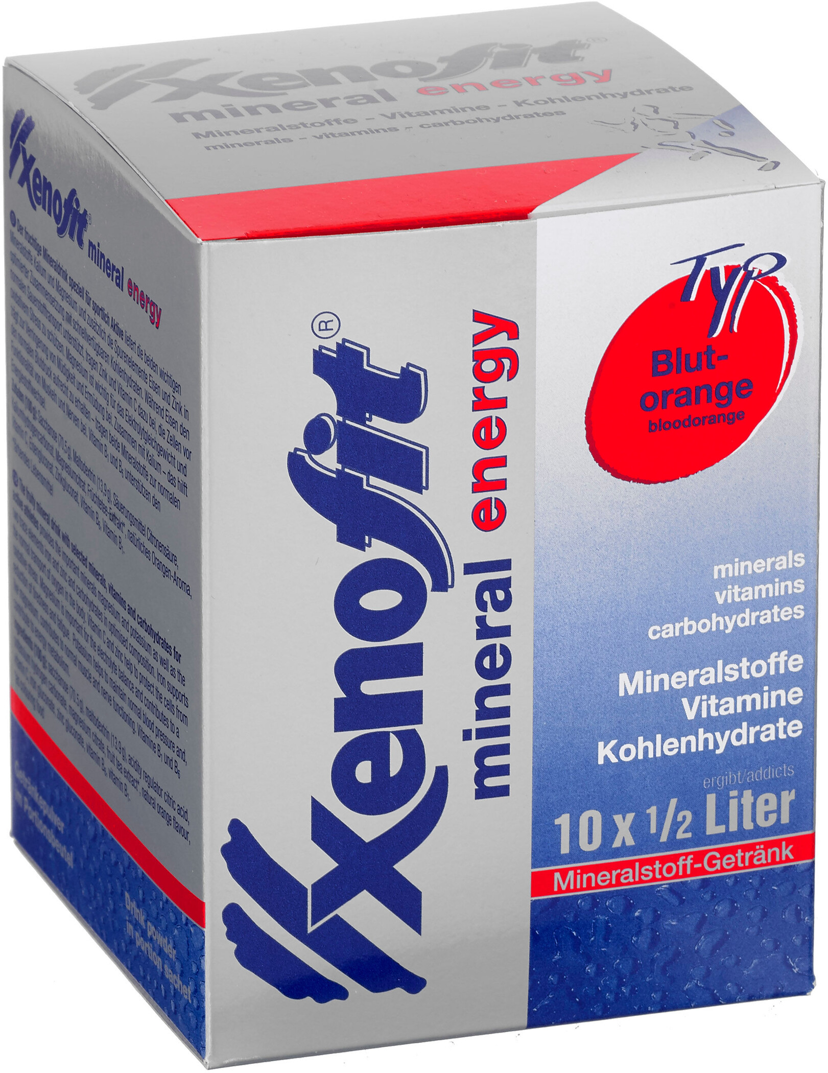 Xenofit Mineral Energy Drink portionsbreve 10x36g, Blood Orange (2019) | Energy drinks