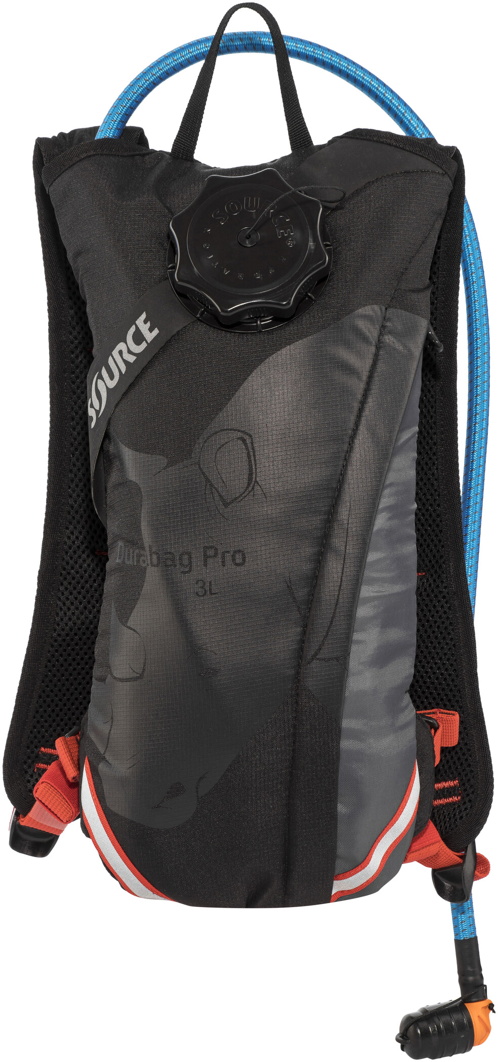 SOURCE Durabag Pro Hydration Pack medium, gray/ black/ fiesta (2019) | item_misc