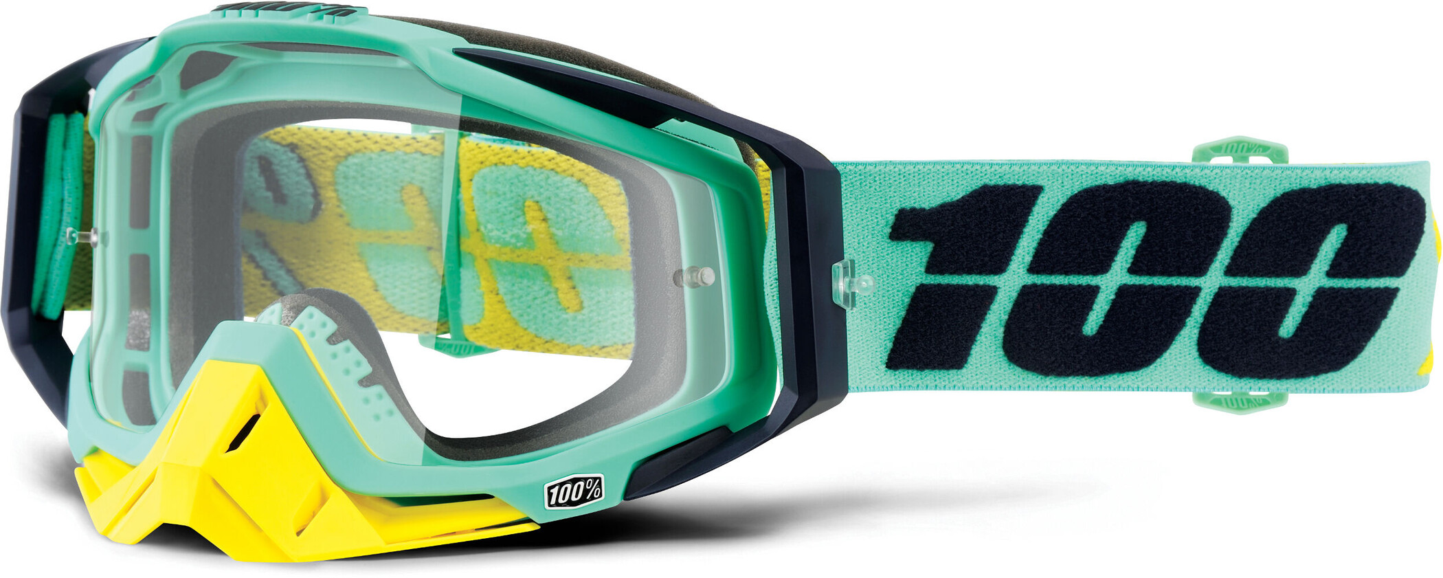 100% Racecraft Anti Fog Clear Goggles, kloog (2019) | Glasses