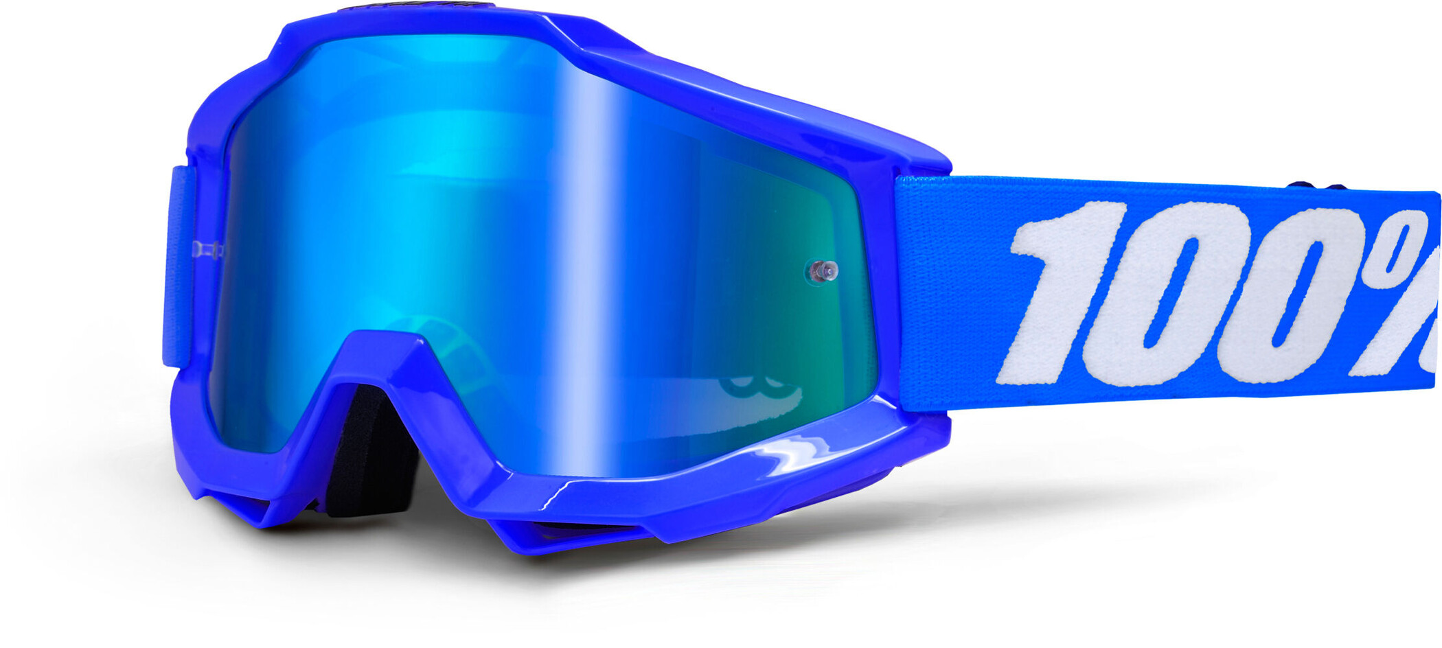 100% Accuri Anti Fog Mirror Goggles, reflex blue | Briller