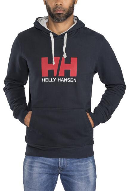 """Helly Hansen Uomo Felpa con Cappuccio in Pile Felpa Con Cappuccio Blu Navy HH LOGO PICCOLO 40/"""""""