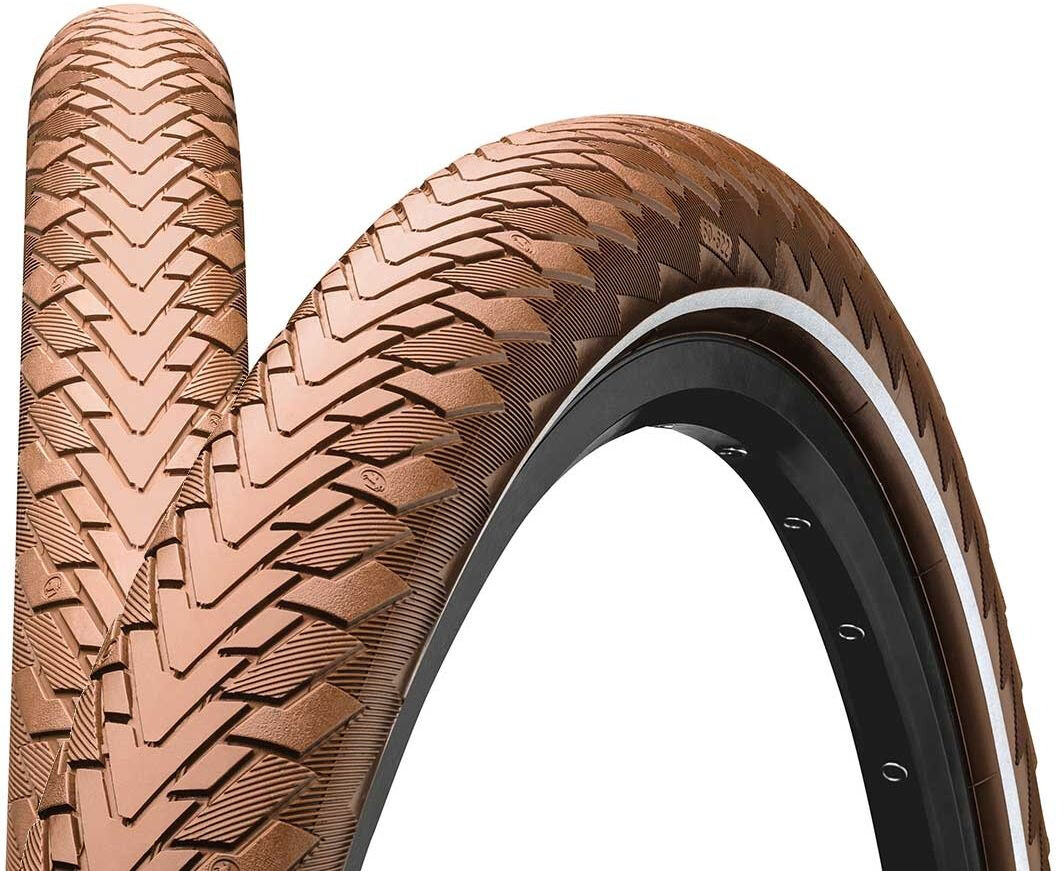 """Continental Contact Cruiser Wired-on Tire 26"""" E-25 Reflex, brown (2019) 