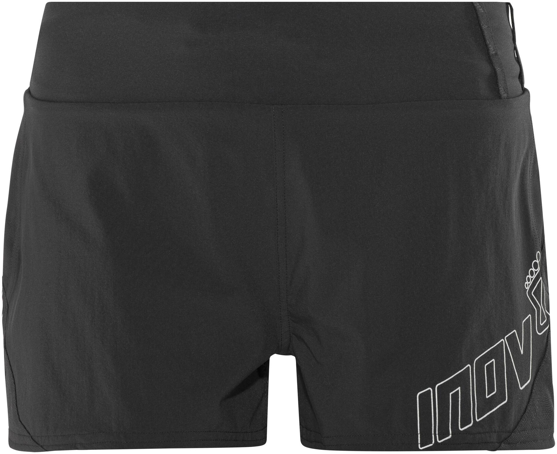 "Inov8 Race Elite 2.5/"" Racer Womens Black Water Resistant Running Shorts Pants"