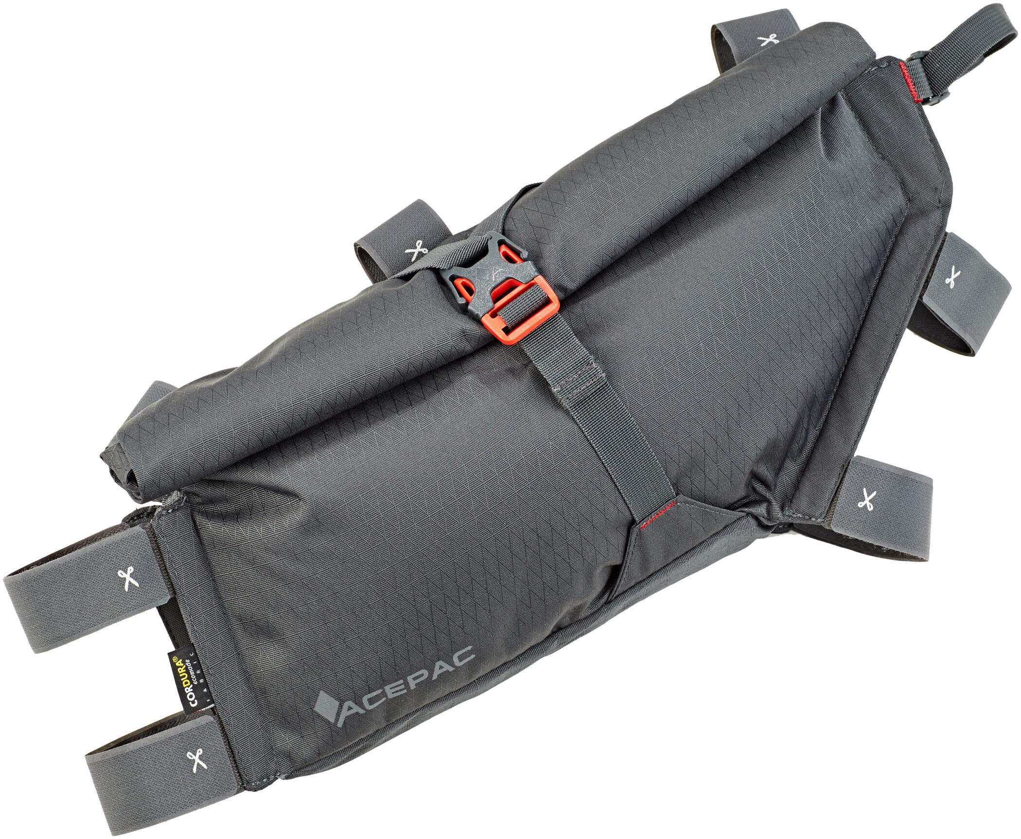 Acepac Roll Cykeltaske L, grey (2019)   Frame bags