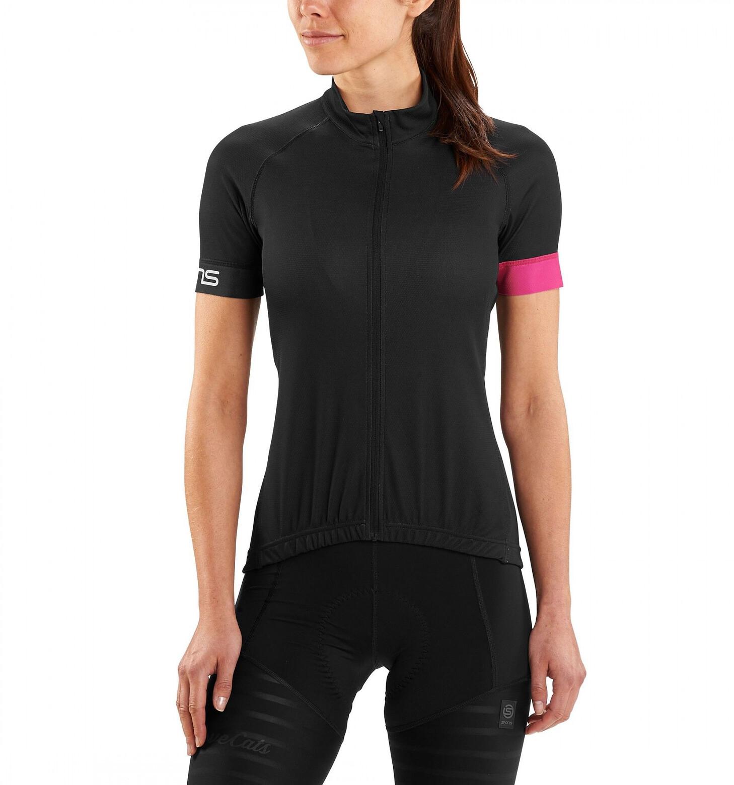 Skins Cycle Classic Kortærmet cykeltrøje Damer, black/magenta | Jerseys
