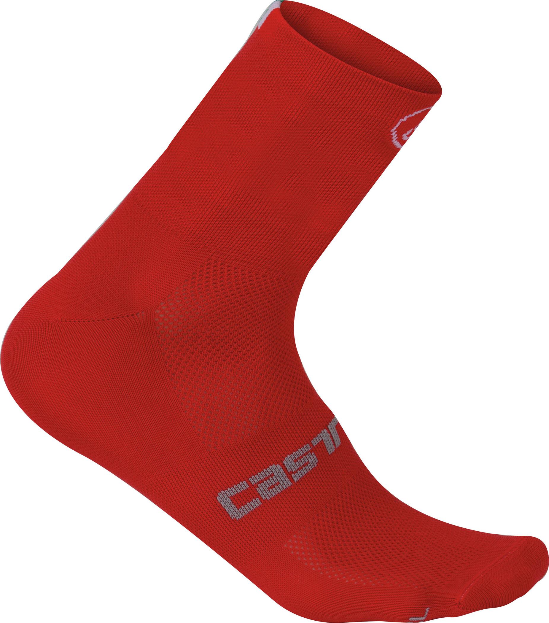 Castelli Quattro 9 Strømper, red (2019) | Socks