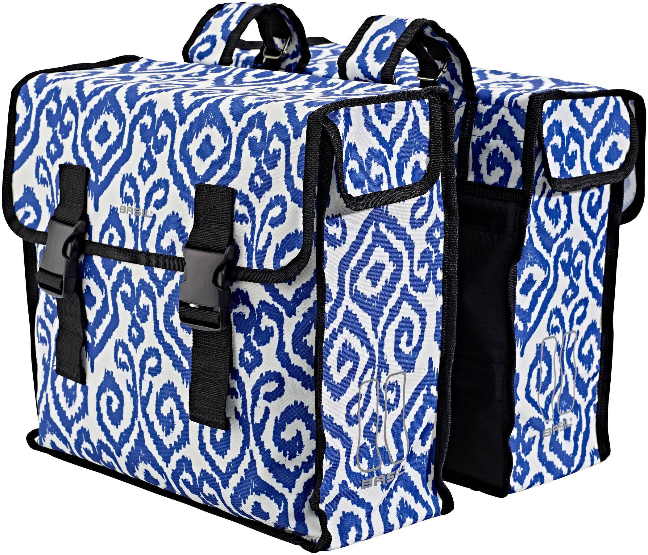 Basil Mara XL Sidetasker L, 35l, indigo ikat (2020) | Rack bags