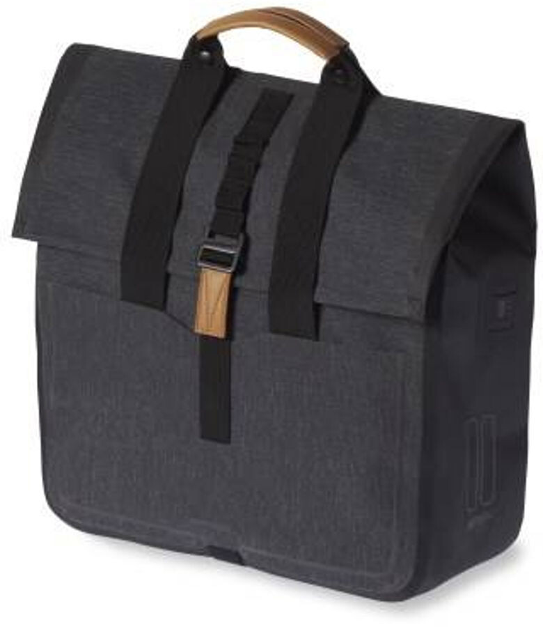 Basil Urban Dry Luggage Carrier Bag 25L, charcoal melee (2019) | Travel bags
