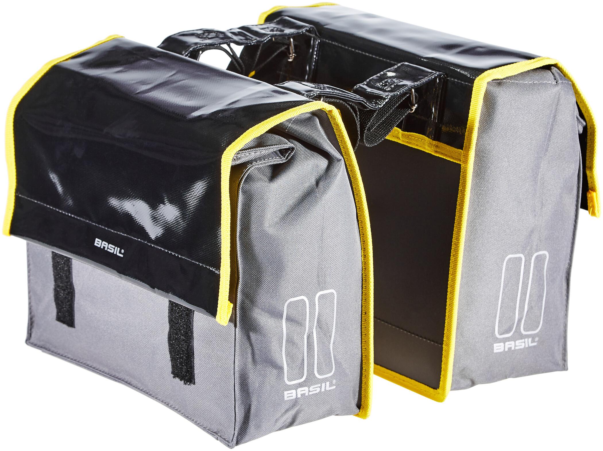 Basil Urban Load S Sidetasker 25l, black/steel grey (2020) | Rack bags