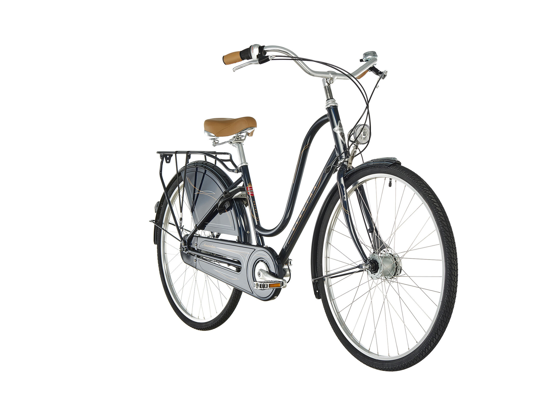 Electra Amsterdam Royal 8i Damer, dark metallic blue | City-cykler