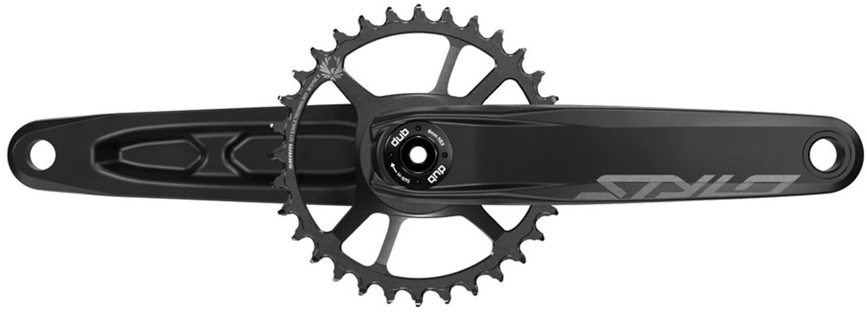 Truvativ Stylo 6K Eagle DUB Krank Direct Mount 32 tænder 12-speed, black (2019) | Crankset