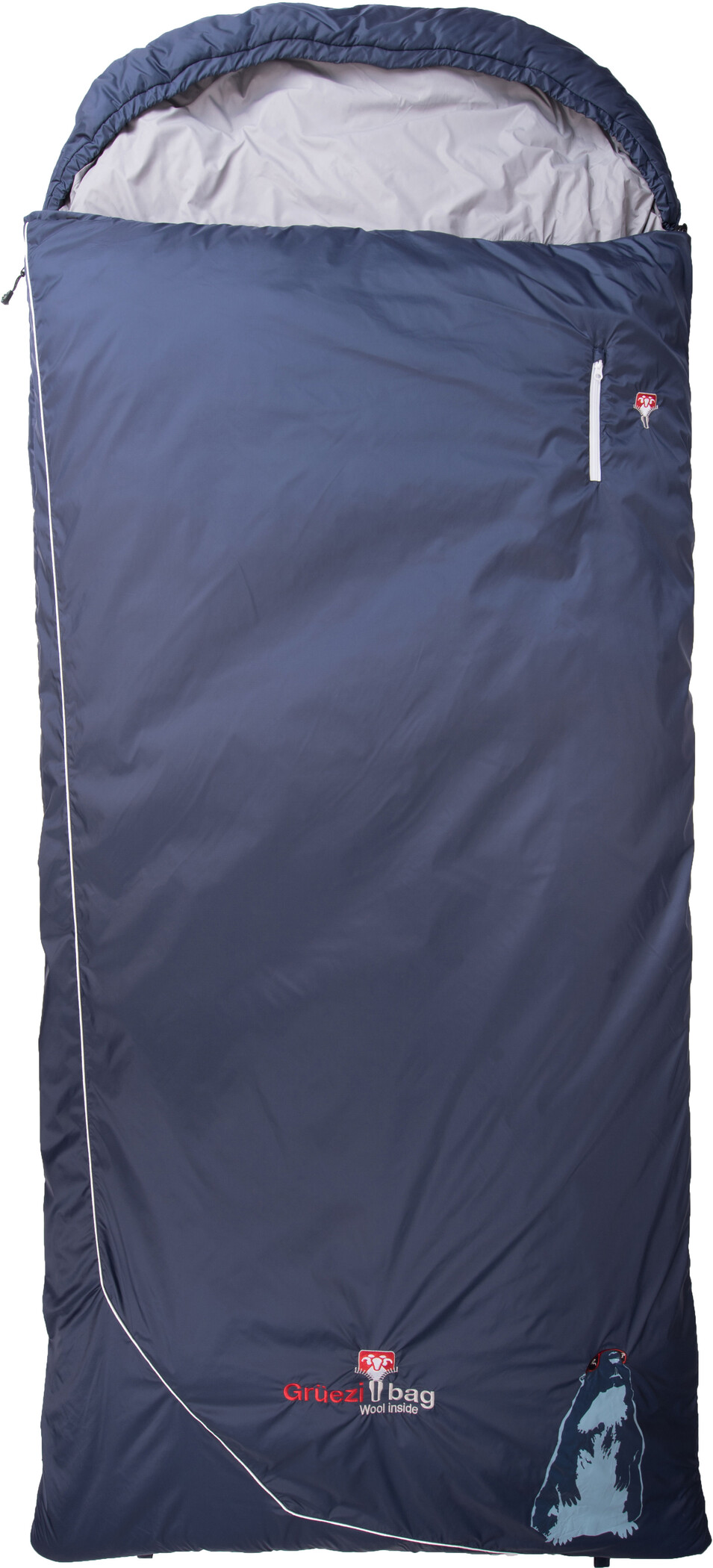 Grüezi-Bag Biopod Wool Murmeltier Comfort Sovepose XXL, currant, night blue | Transport og opbevaring > Tilbehør