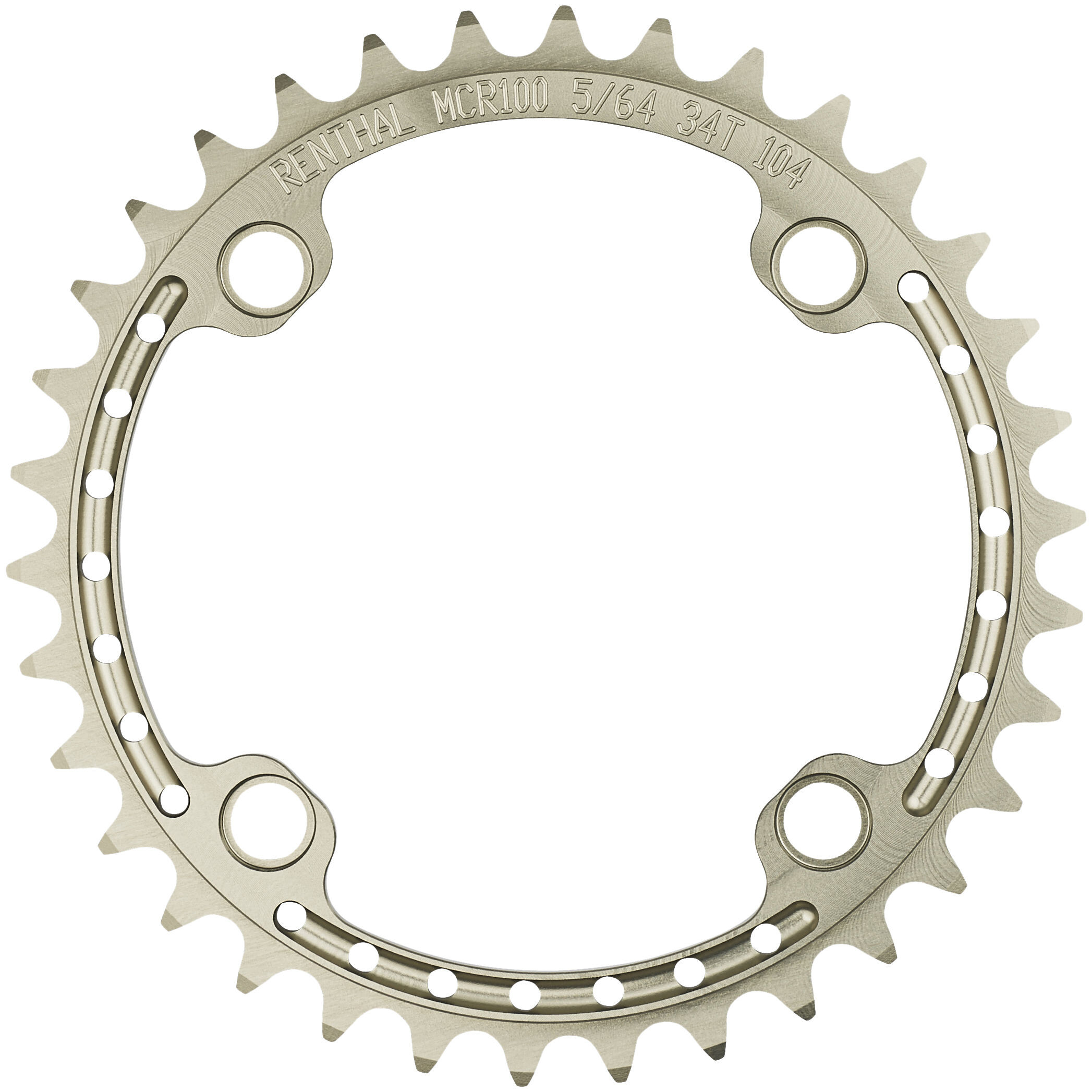 Renthal SR4 Klinge 8/9/10-speed 104 mm, gold (2019) | chainrings_component