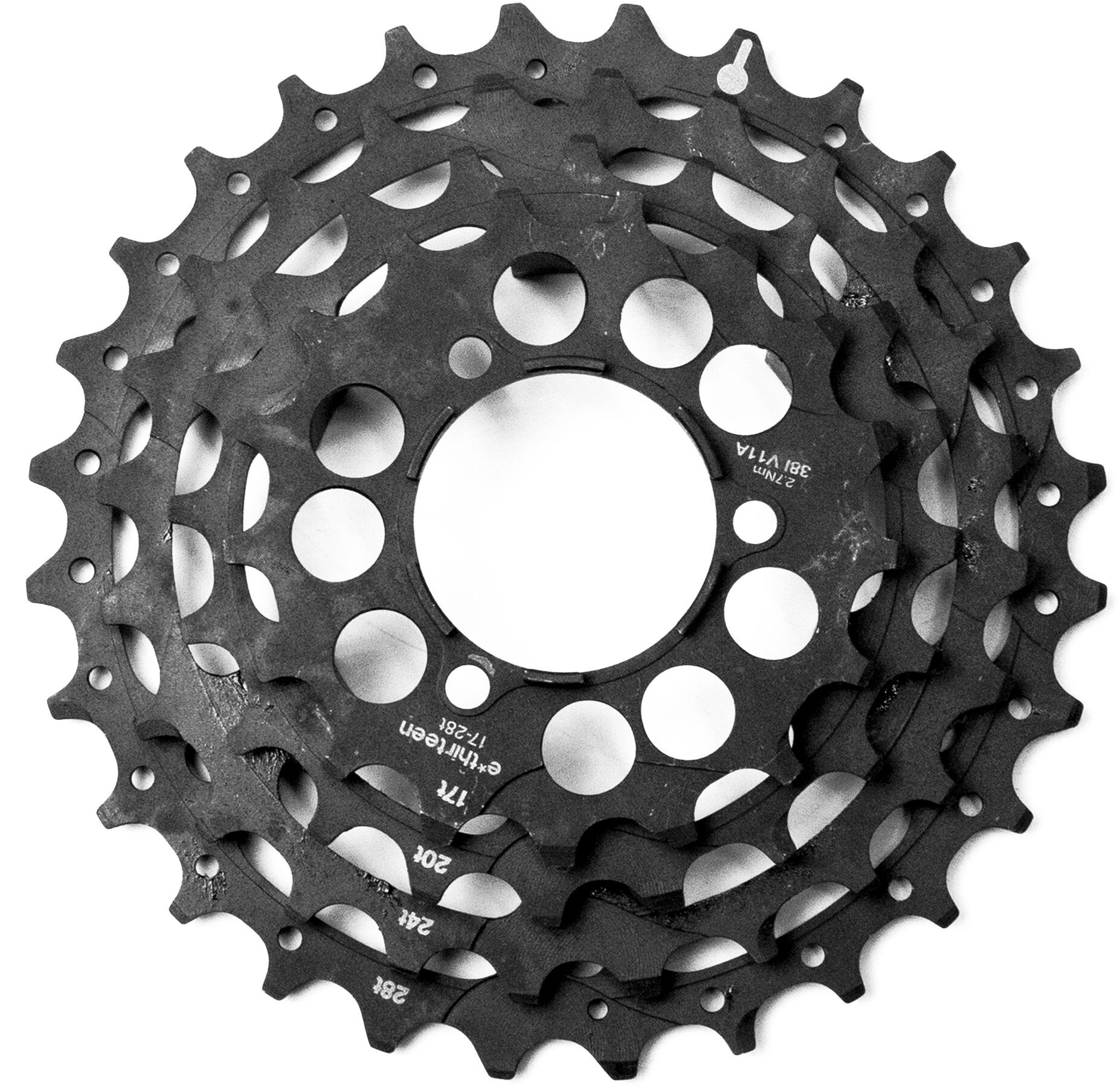 e*thirteen Steel Sprockets til TRS+ 10/11-speed-kassette, black | Frikranse og tandhjul