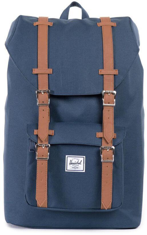 Herschel Little America Mid-Volume Backpack 17L, navy/tan (2019)   Travel bags