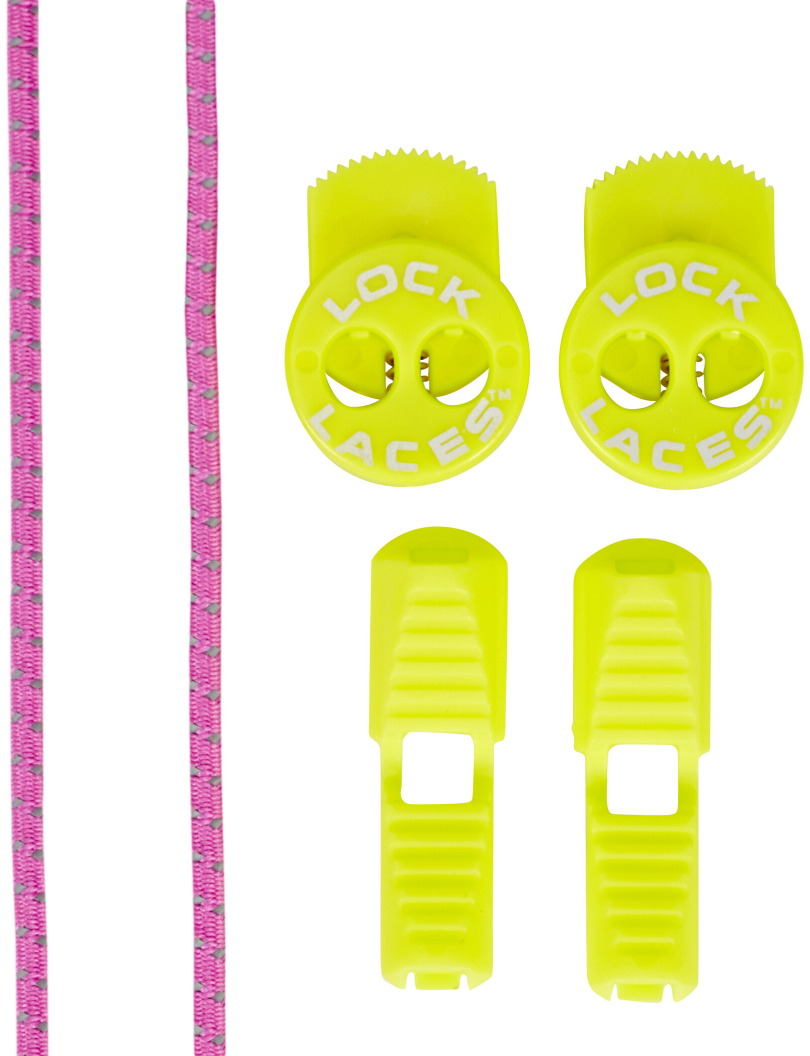 Lock Laces Run Laces Refleks, pink | shoes_other_clothes