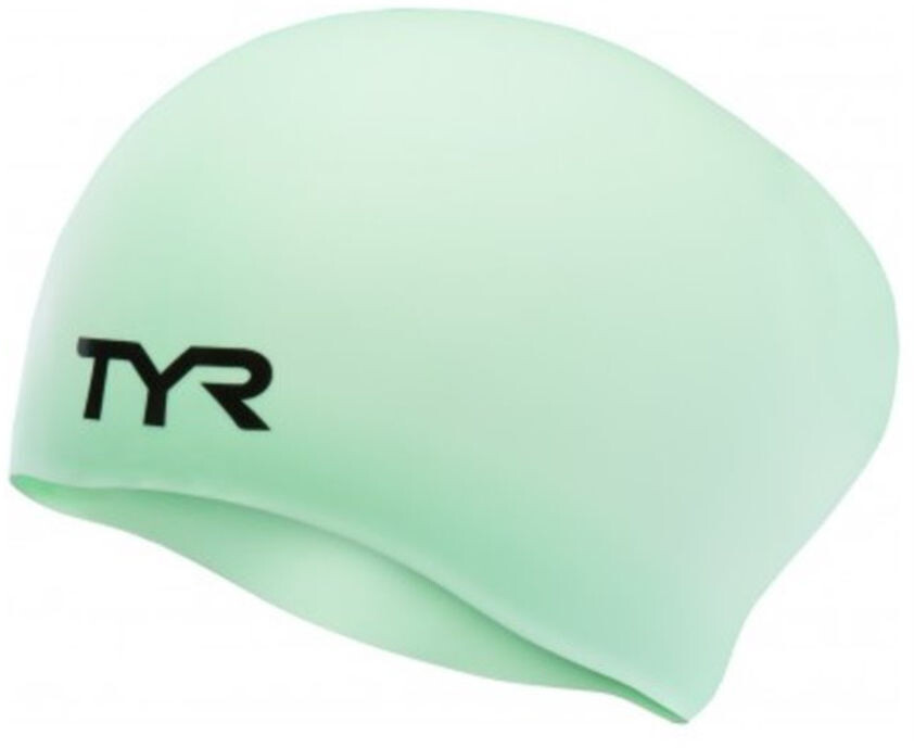 TYR Wrinkle-Free Long Hair Badehætte, mint (2019) | swim_clothes