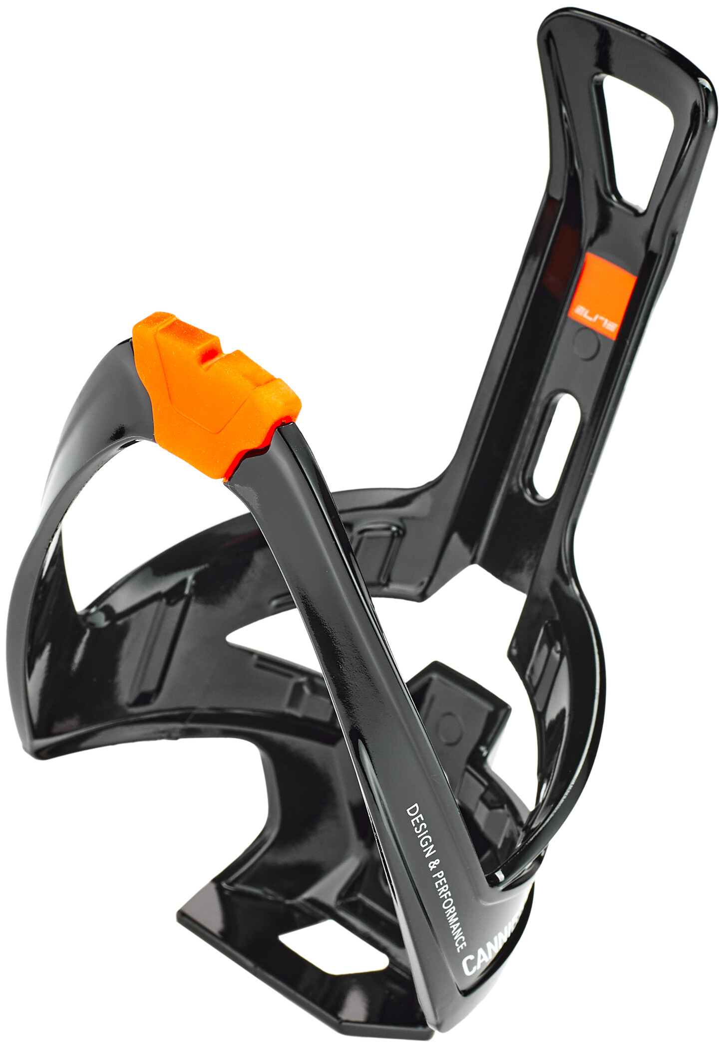 Elite Cannibal XC Flaskeholder, glossy black/orange design | Flaskeholdere