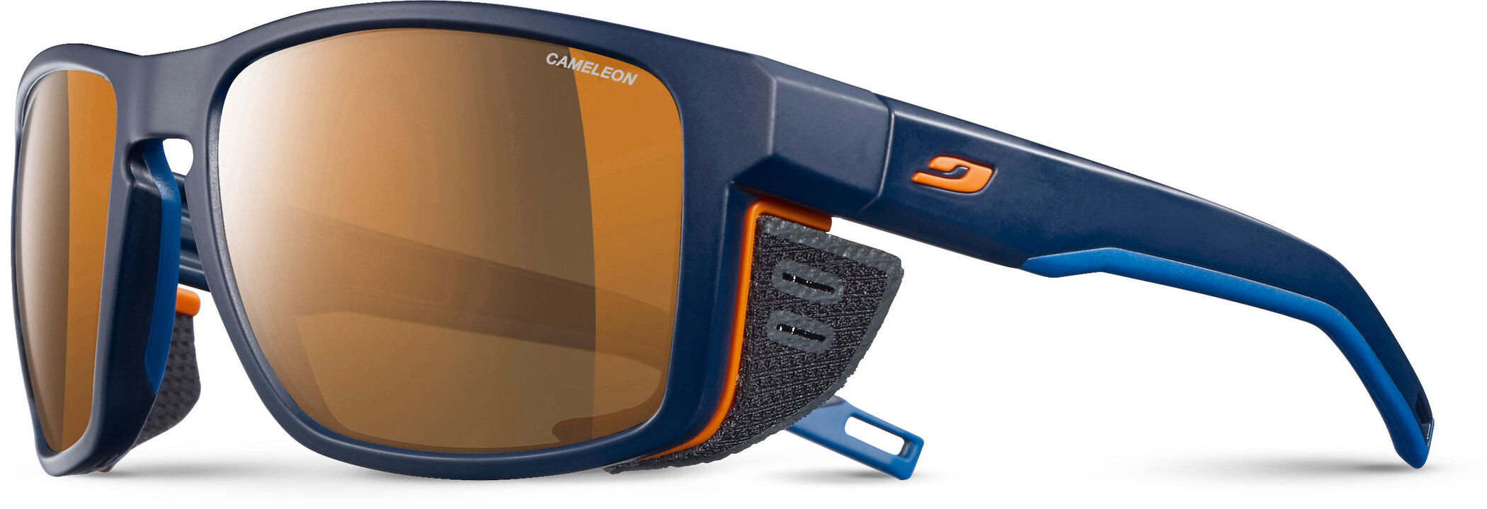 Julbo Shield Cameleon Solbriller, blue/blue/orange-brown | Briller