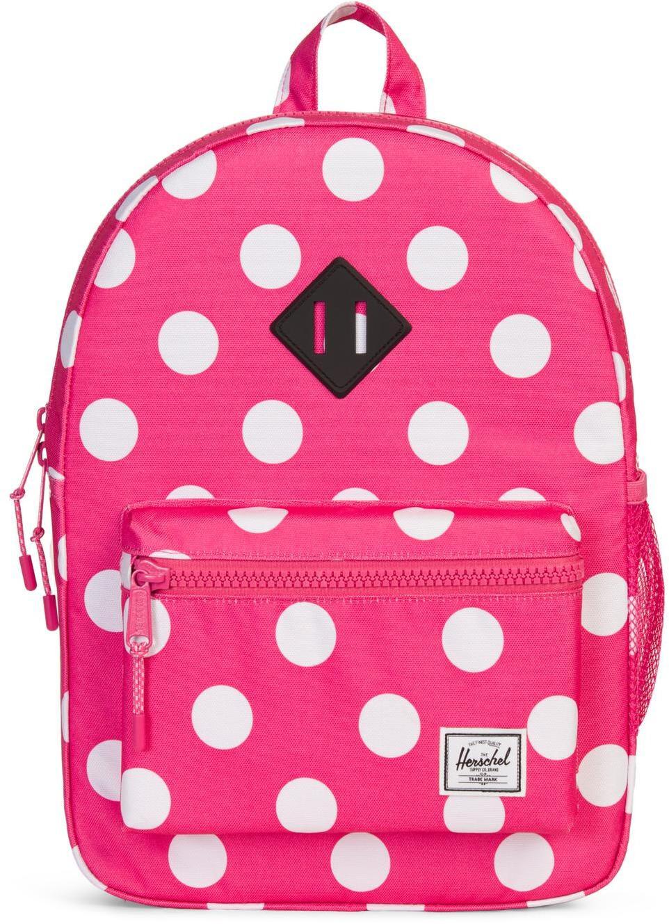 Herschel Heritage Rygsæk Børn, polka dot fandango pink   Rygsæk og rejsetasker