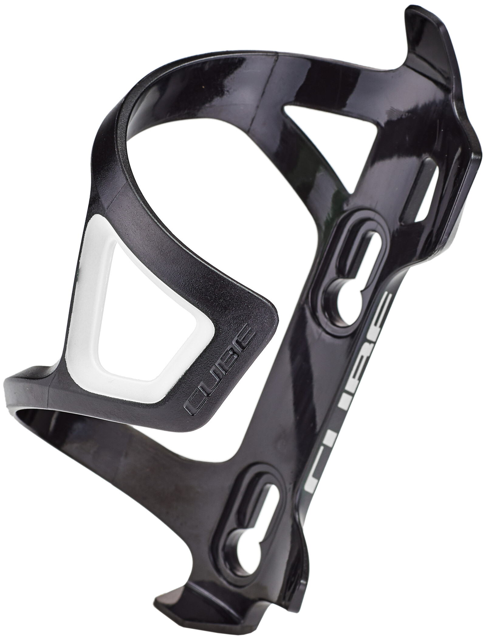 Cube HPP-Sidecage Flaskeholder, black/white (2020) | Bottle cages