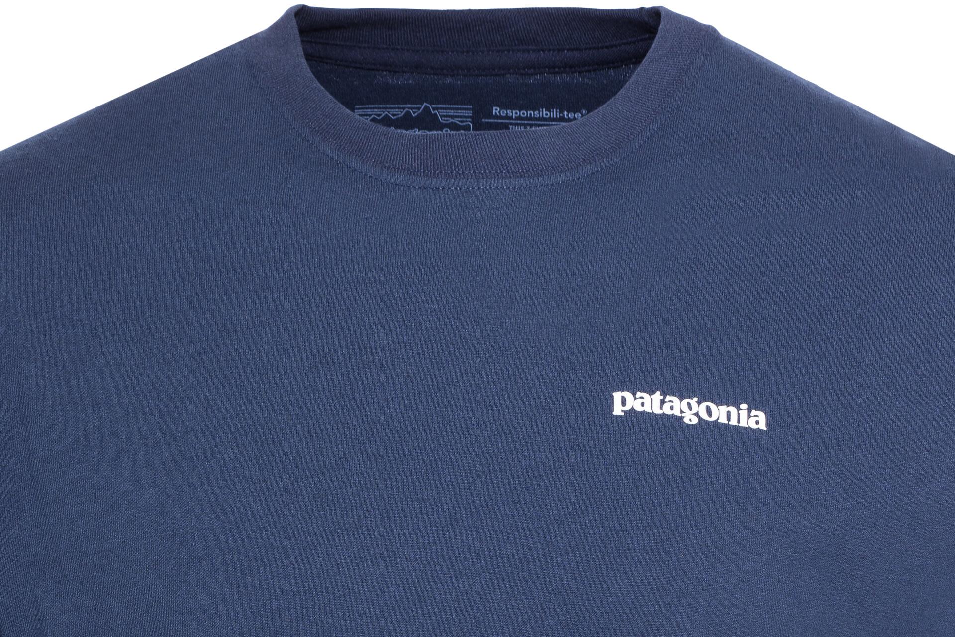 Patagonia ls p-6 Logo responsibili Thé Chemise Manches Longues Bleu