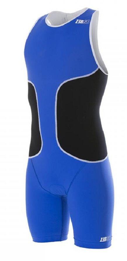 Z3R0D oSUIT Tri Suit Herrer, blue/black/white | Svømmetøj og udstyr