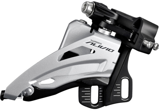 Shimano fd-m4000 Alivio Dérailleur 3x 9 fois top swing dual pull gris