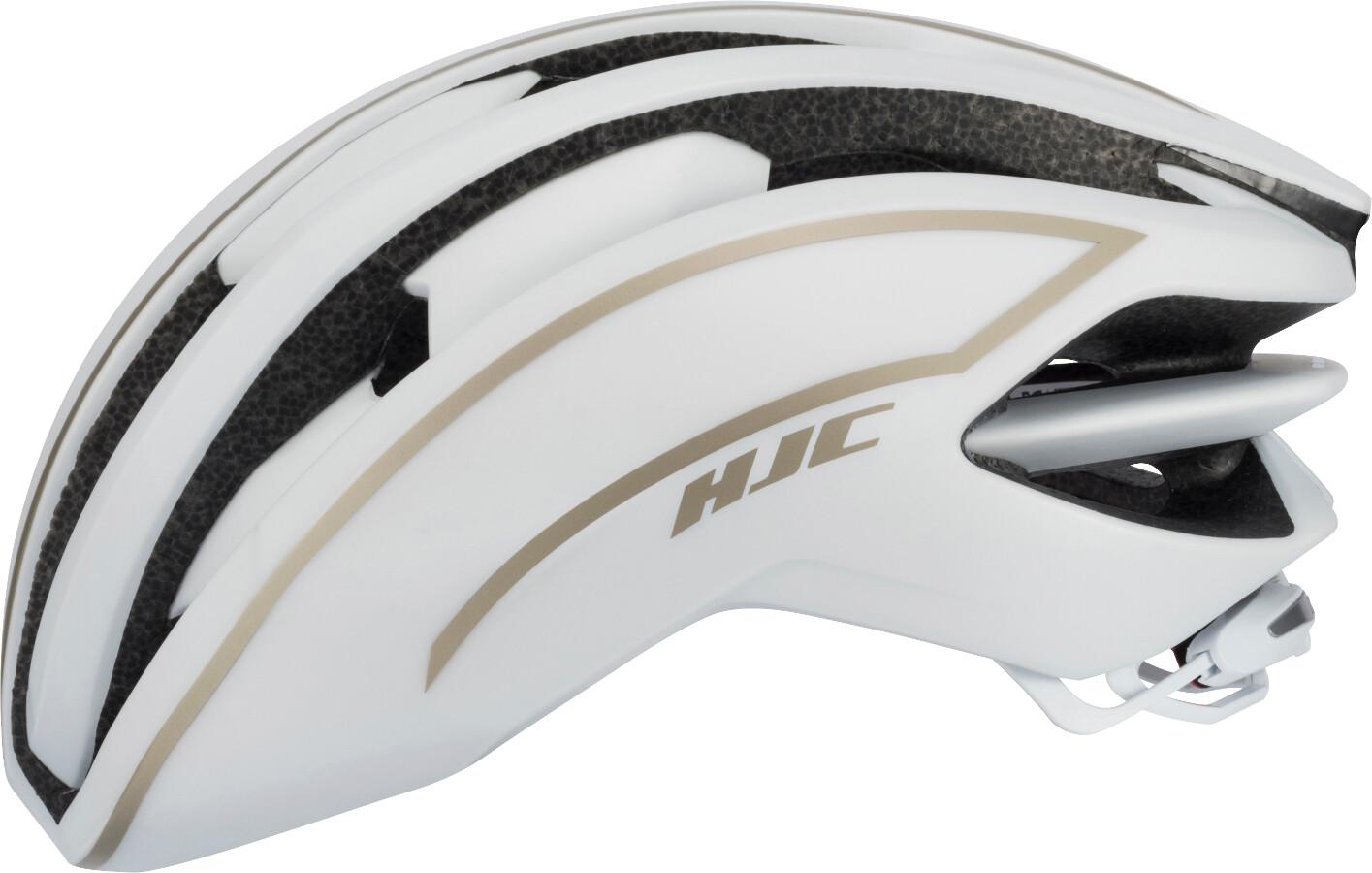 HJC IBEX Road Cykelhjelm, matt white / gold | Hjelme