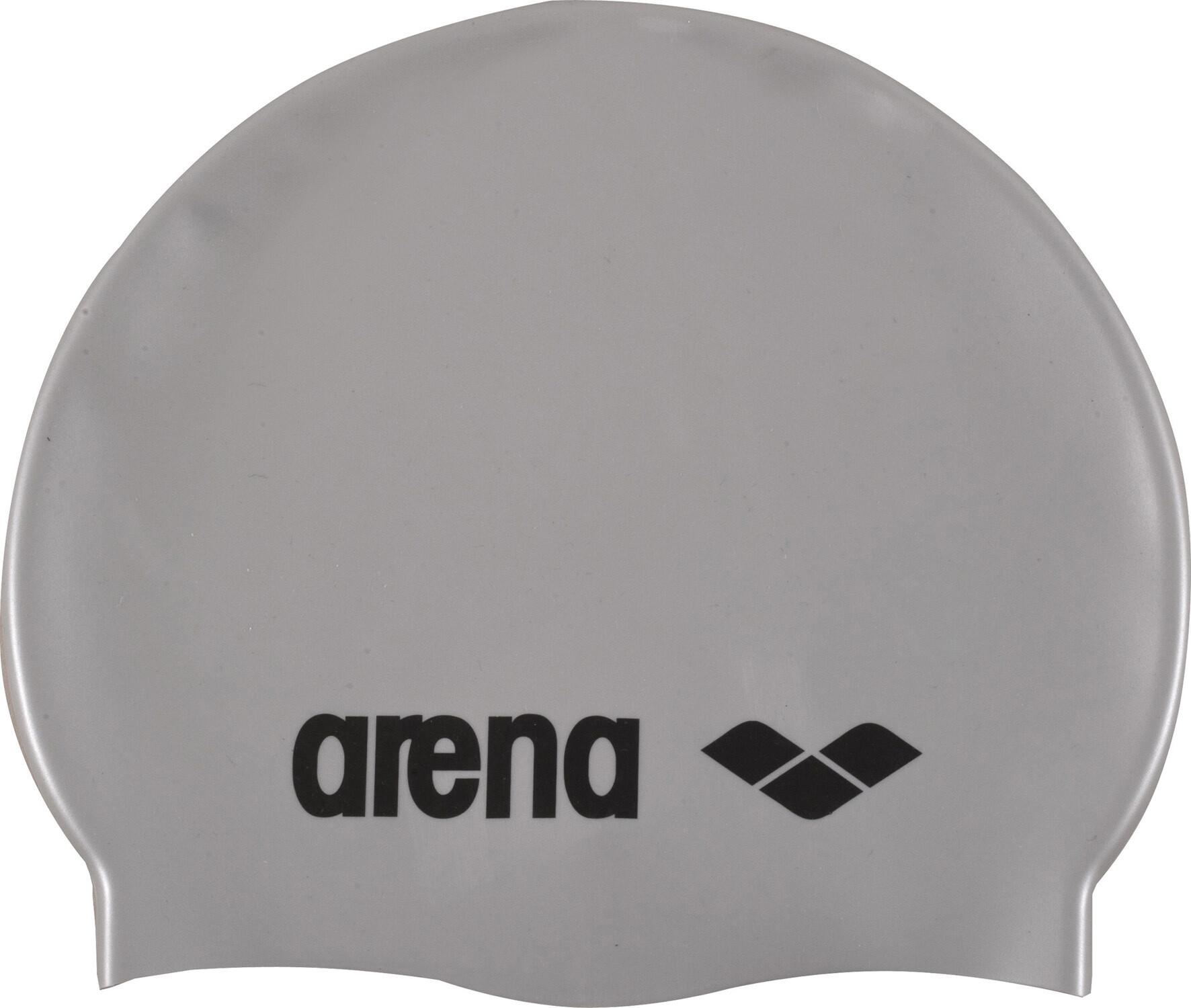 arena Classic Silicone Badehætte Børn, silver-black | swim_clothes