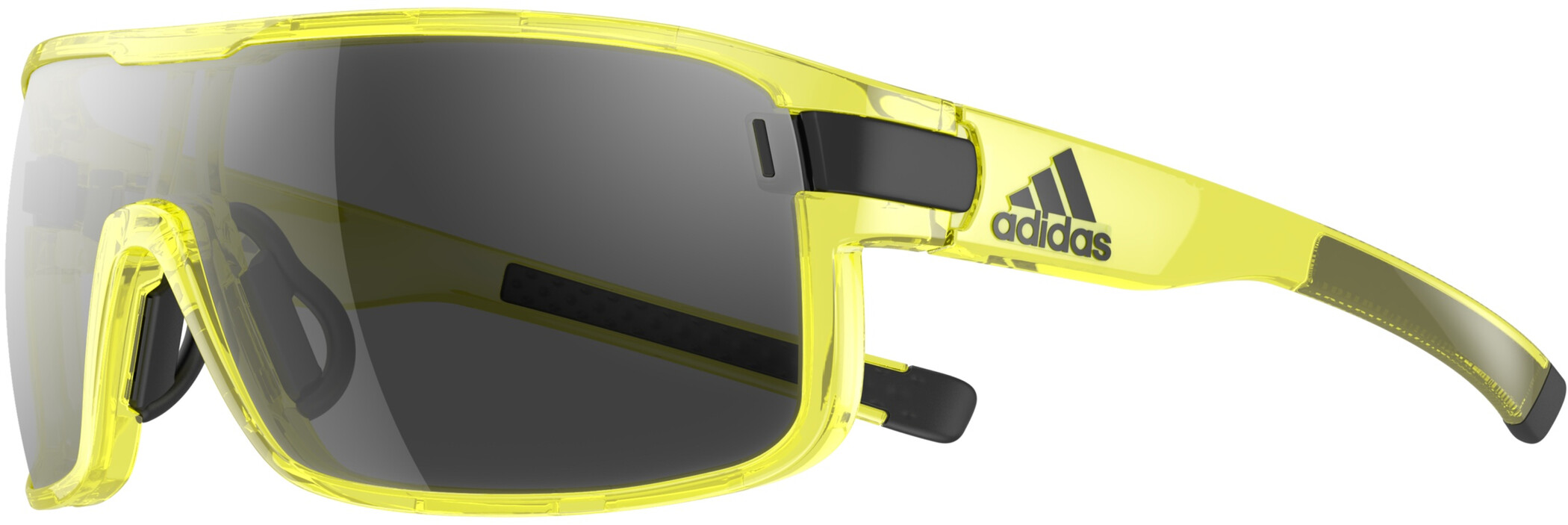adidas Zonyk Cykelbriller L, yellow transparent/grey (2019) | Glasses