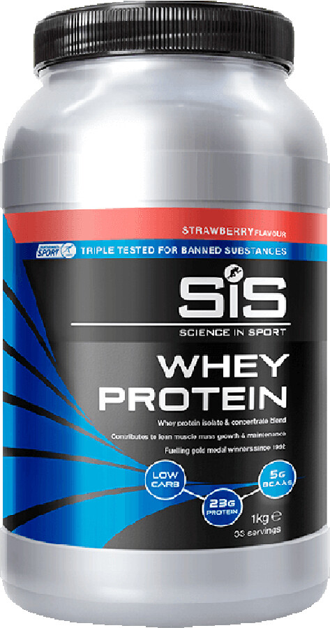 SiS Whey Protein Tub 1kg, Strawberry (2019) | item_misc