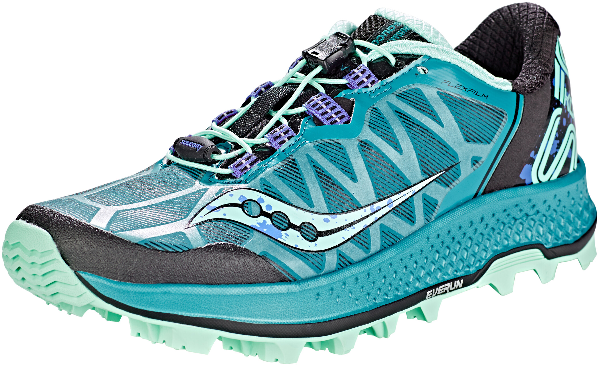 saucony Koa ST Sko Damer, green/black/aqua (2019) | Running shoes