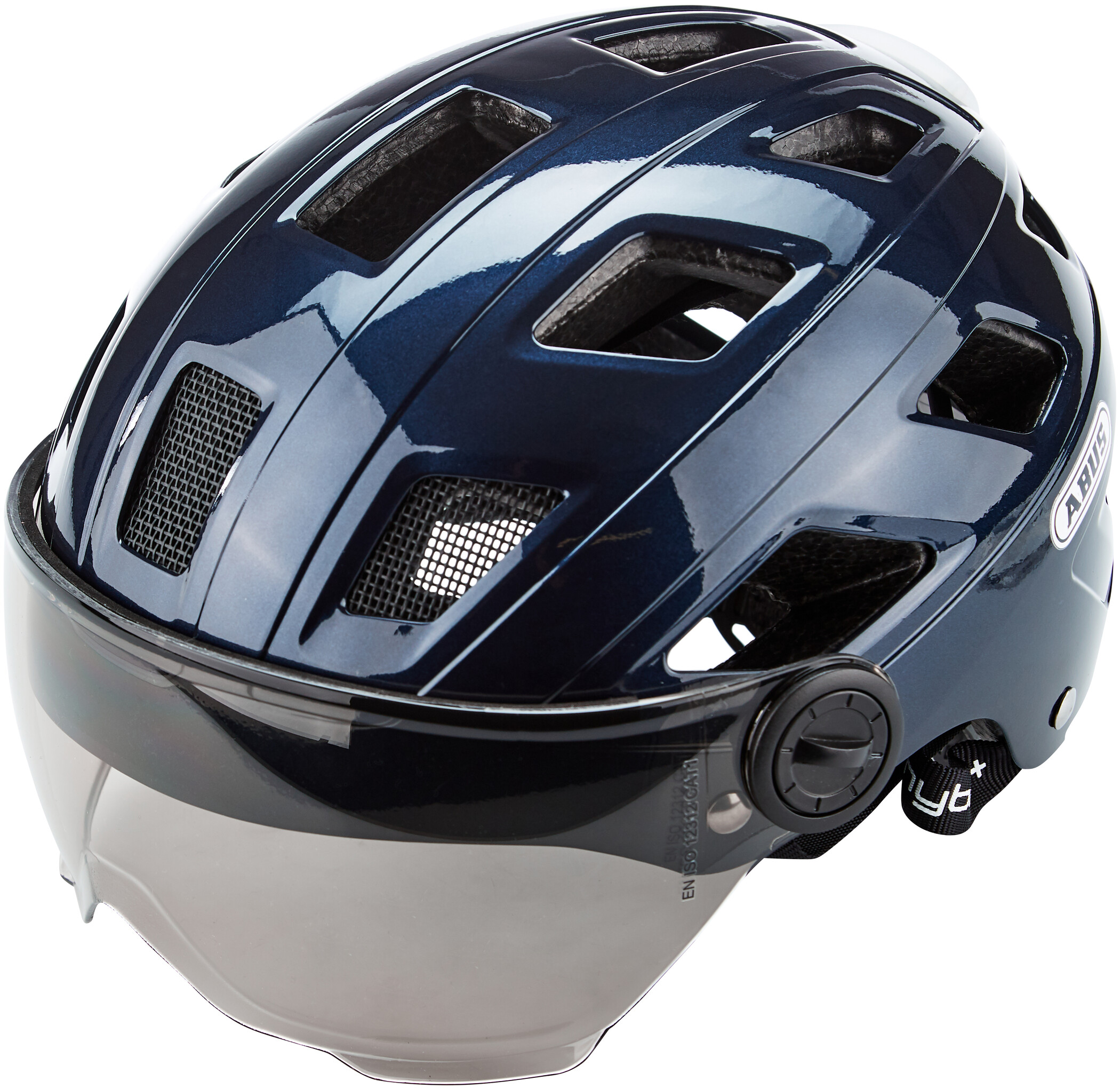 ABUS Hyban + Visor Helmet - black   Hjelme