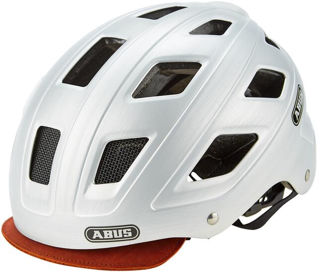 M 52-58cm ABUS Caschi hyban White Cream CLEAR visor