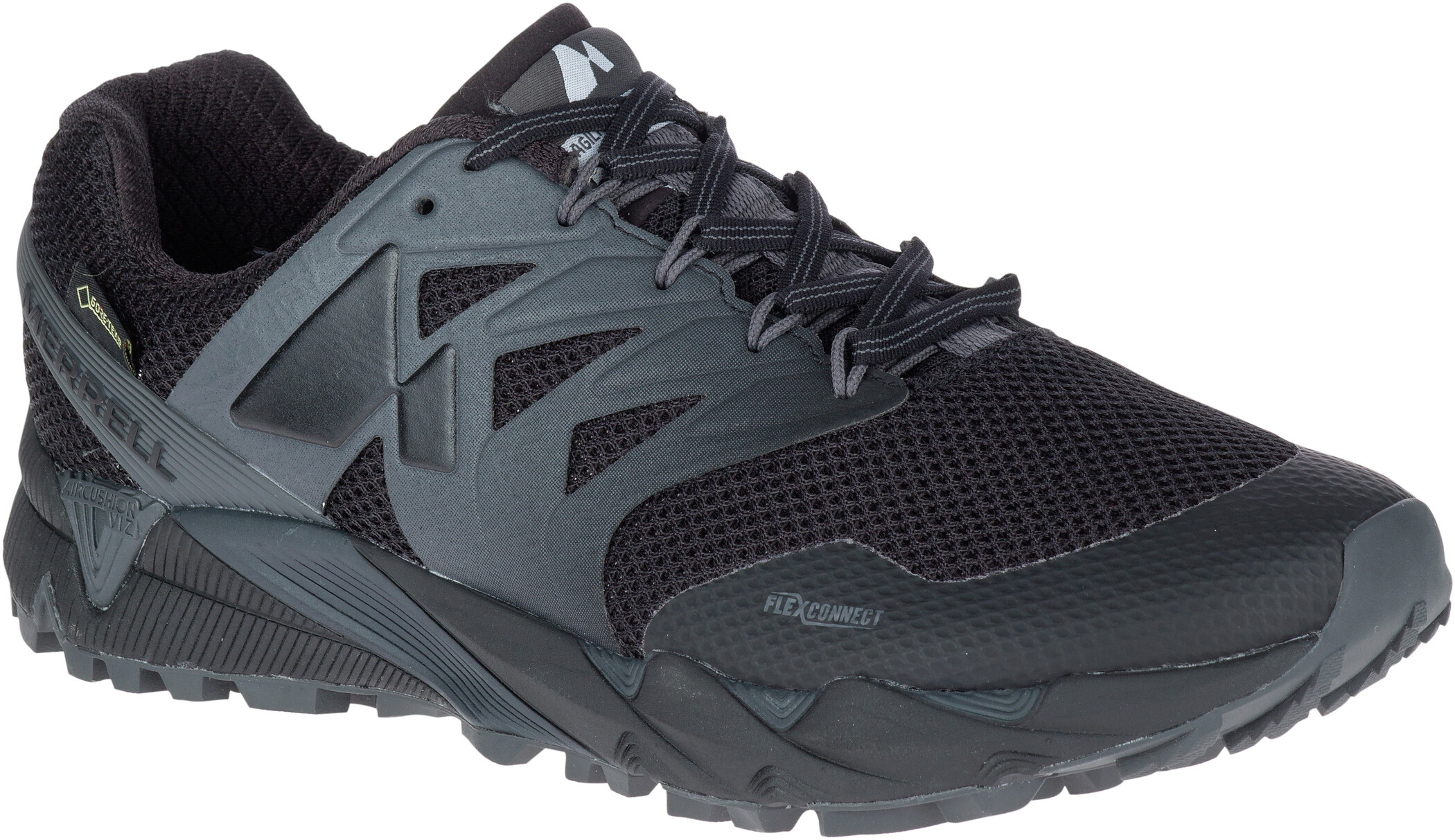 Merrell Agility Peak Flex 2 GTX Sko Herrer, black | Shoes and overlays