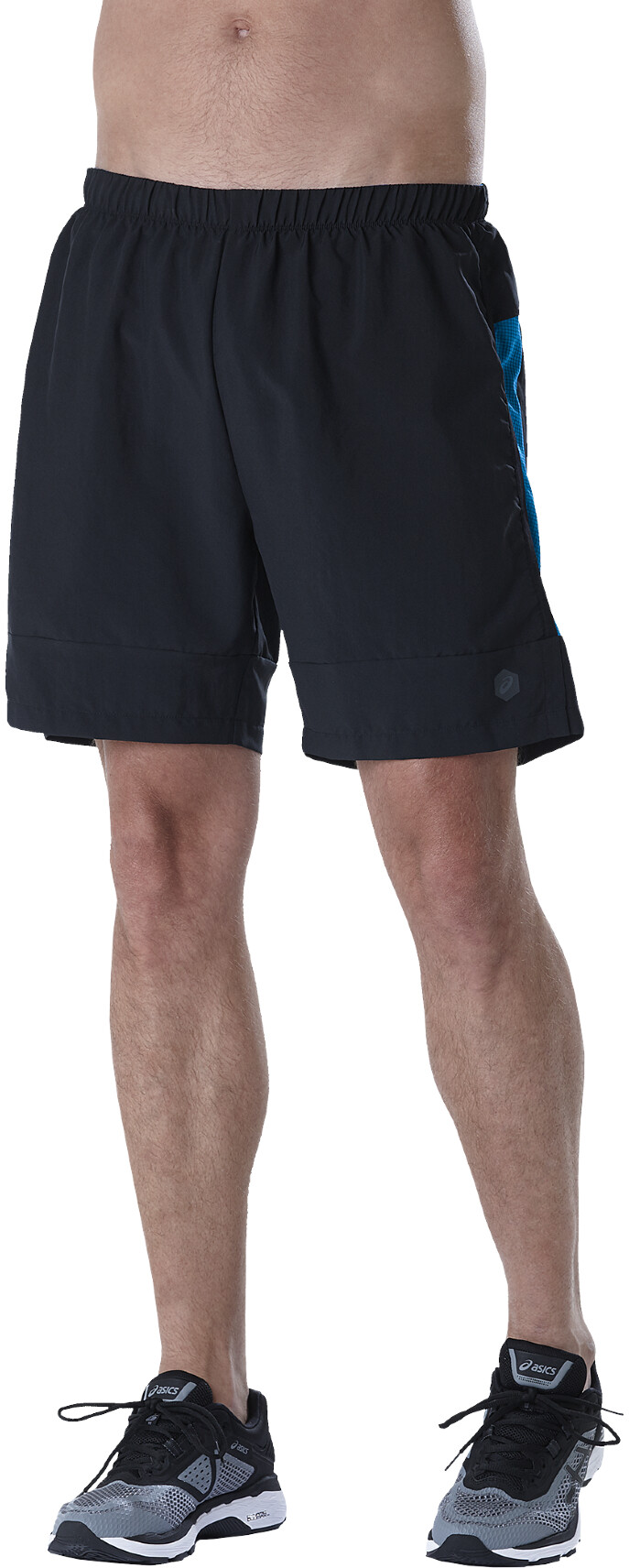 asics 7In Shorts Herrer, performance black/directoire blue   Trousers
