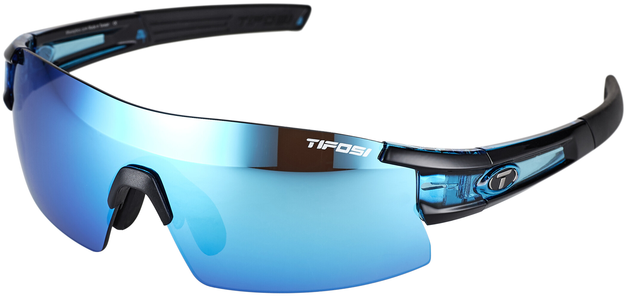 Tifosi Escalate SF Cykelbriller Herrer, crystal blue - clarion blue/ac red/clear | Glasses