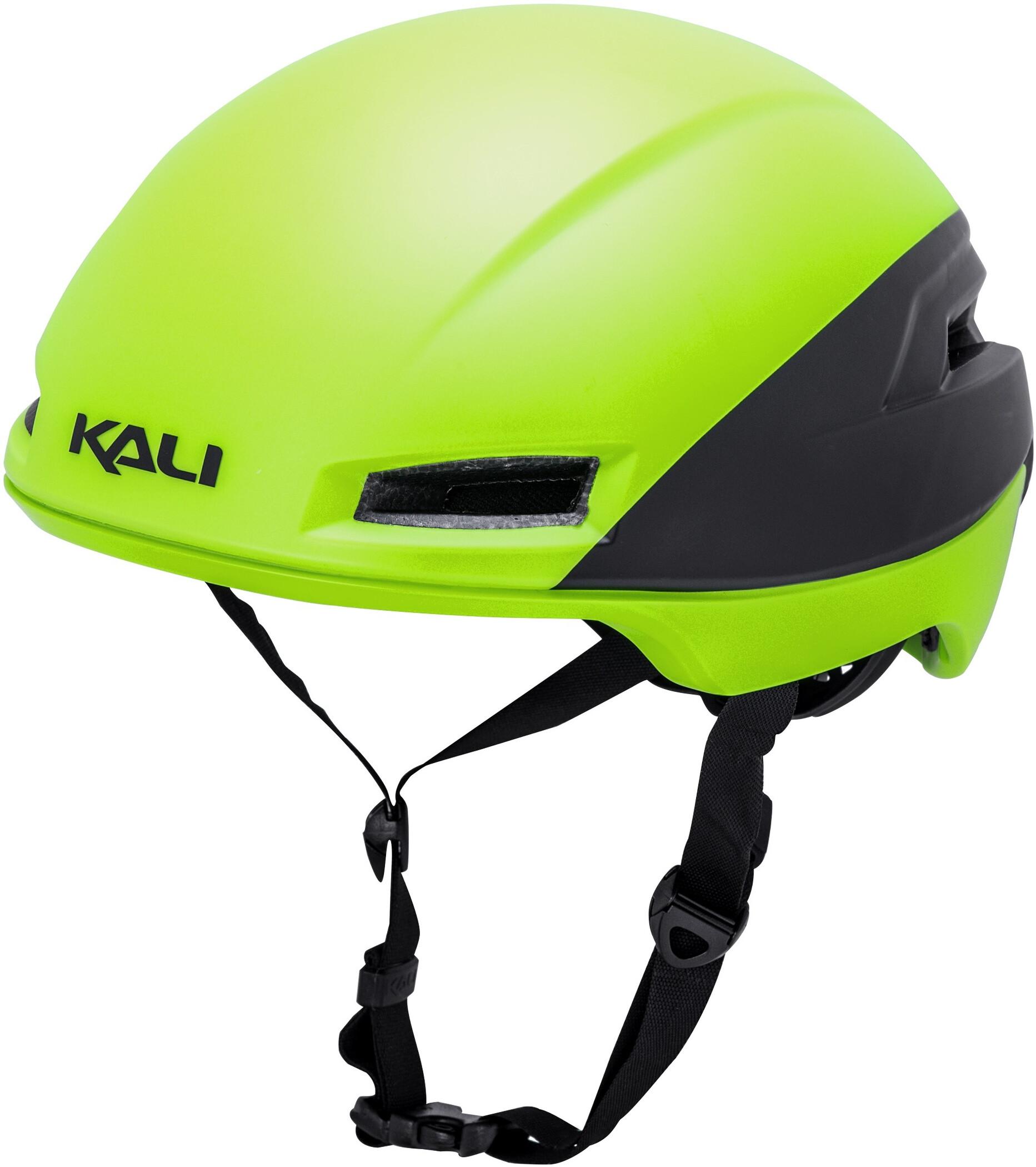 Kali Tava Flow Cykelhjelm Herrer, matte neon yellow/black   Hjelme