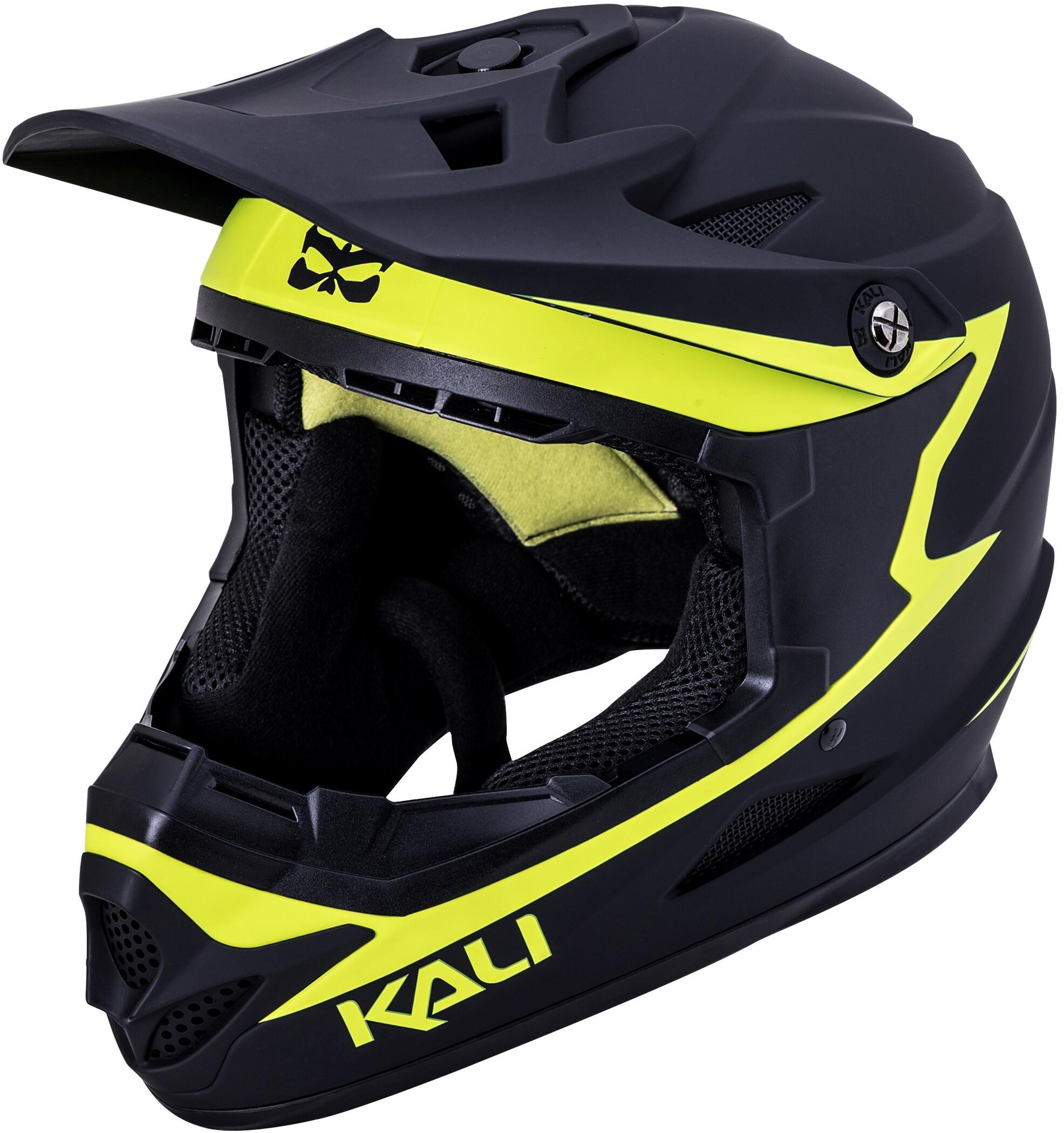 Kali Zoka Cykelhjelm Herrer, matte black/neon yellow   Hjelme